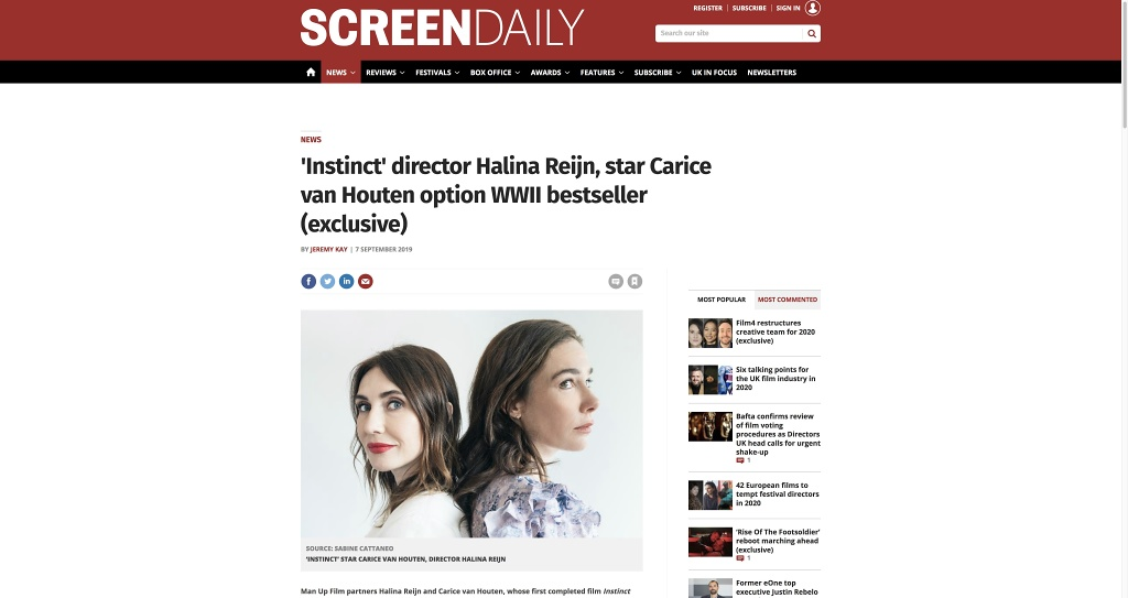 Screen Daily (web) | 07.09.2019