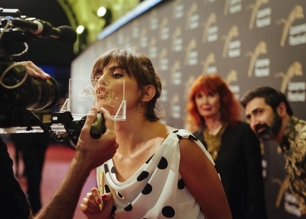 Verónica Echegui, actress with Sabine Azéma and Yuri Ancarani looking on